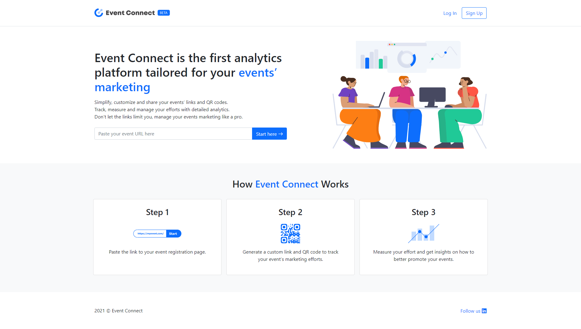 Event Connect Homepage Screen
